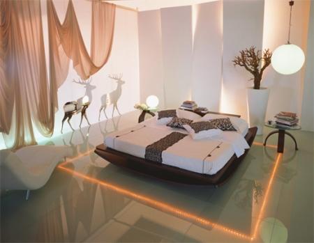 Световой дизайн интерьера: светодиодная подсветка шкафов-купе